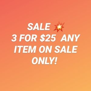 Sale💥 3 for $25